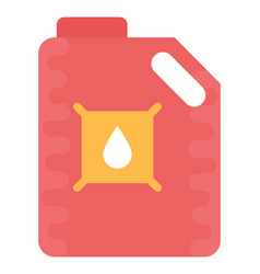 Oil can flat icon vector