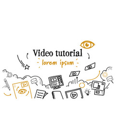 Online education business video tutorial concept vector