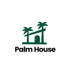 palm house tropical logo icon vector image