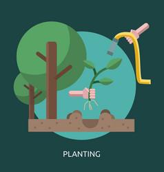 Planting conceptual design vector