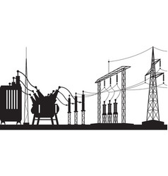 Power grid substation vector