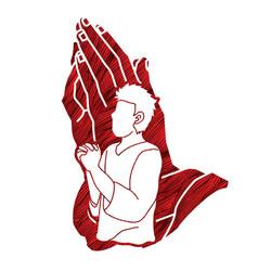 prayer christian praying praise god worship vector image