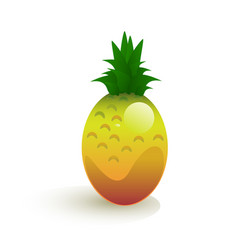 ripe pineapple vector image