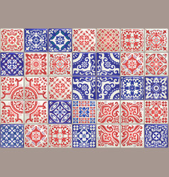 Seamless patchwork tile with victorian motives vector