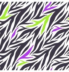 Seamless texture of crazy zebra stripes vector image