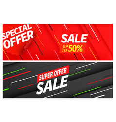 season sale color banners set special offer vector image