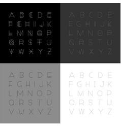 set modern fonts in minimalistic design vector image