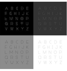 set of modern fonts in minimalistic design vector image