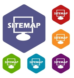Sitemap rhombus icons vector image