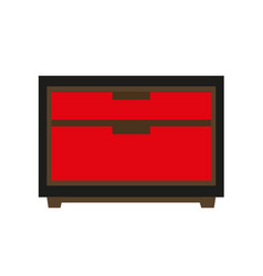 small red chest vector image
