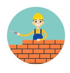 stonemason masonry character icon vector image