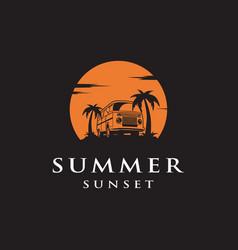 summer car logo design vector image