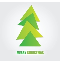 The simple geometric triangle form Christmas tree vector