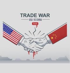trade war china vs united states vector image