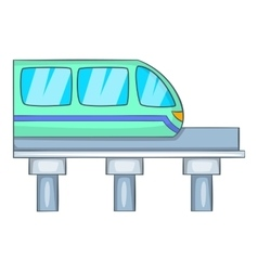 Train icon cartoon style vector