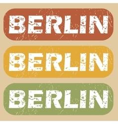 Vintage Berlin stamp set vector image