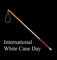White cane safety day ill vector