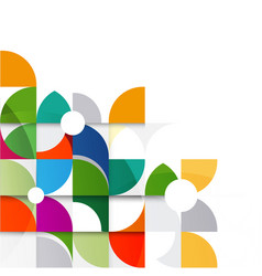 abstract colorful and creative geometri vector image