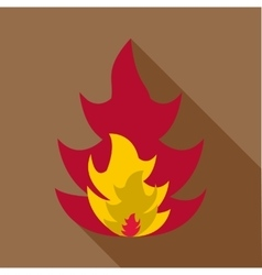 Flame icon flat style vector image
