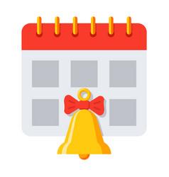 school timetable icon vector image vector image