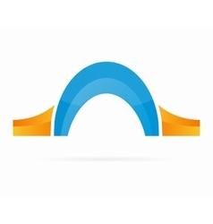 bridge logo design elements vector image