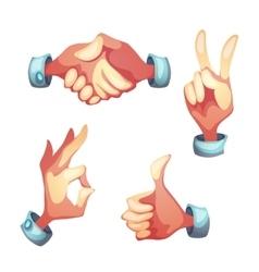 hand gesture symbols vector image
