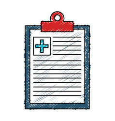 Medical order isolated icon vector