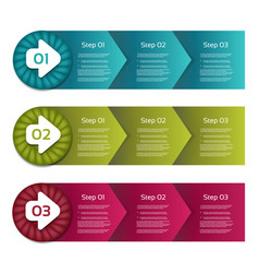 process arrows boxes step by step set thr vector image