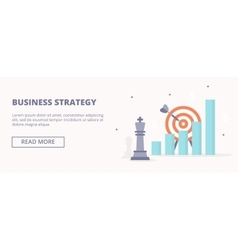 Business strategy horizontal banner vector