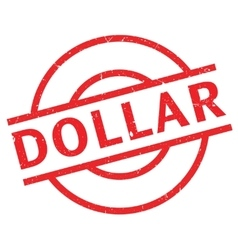 Dollar rubber stamp vector image