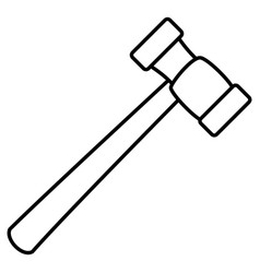 hammer tool isolated icon vector image