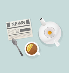 tea breakfast traditional healthy drink vector image