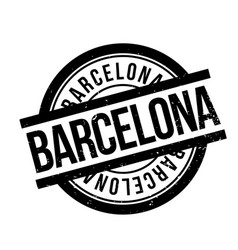 barcelona rubber stamp vector image vector image