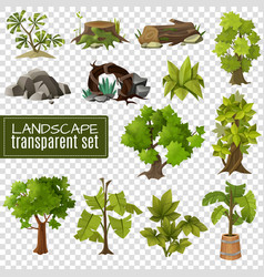 landscape design elements set vector image vector image