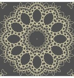 Mandala Yoga Print on brown background vector image