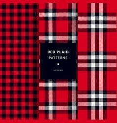 scottish red plaid patterns vector image