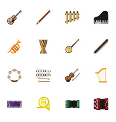 set of 16 editable music icons includes symbols vector image vector image