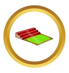 Small football stadium icon vector