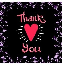 Thank You Frame Dark vector image vector image