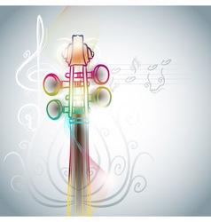 violin backgorund vector image vector image