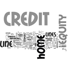 a guide to home equity lines of credit text word vector image