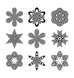 Abstract Design Elements Optical Art vector image