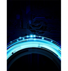 Abstract technology theme background vector
