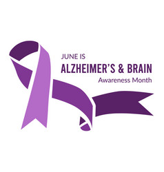 Alzheimers and brain awareness month vector