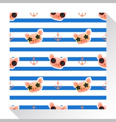 Animal seamless pattern collection with piggy 3 vector image