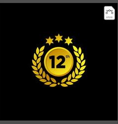 anniversary emblem 1-99 gold luxury decoration vector image
