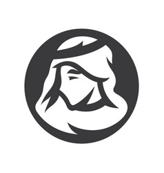 arabic man simple silhouette vector image
