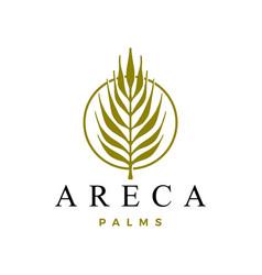 Areca palm logo icon vector
