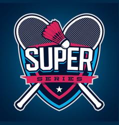 Badminton super series logo vector