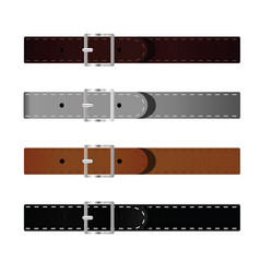 Belt set vector